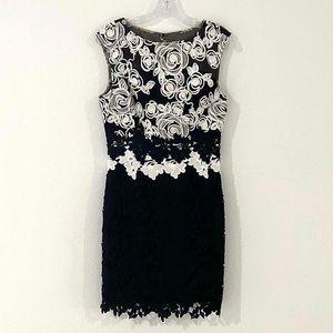 Kay Unger Black & White Lace Dress, SIZE 6